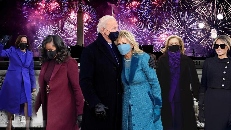 Beyaz Saray'da tüm gözler onların üzerindeydi… ABD'nin kadınlarından Joe Biden'ın yemin töreninde kostümlü 'birlik mesajı'