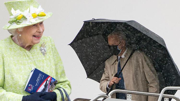 Biri ABD başkanı, biri İngiltere kraliçesi… Herkesin aklında aynı soru: Maskesini neden çıkarmıyor?