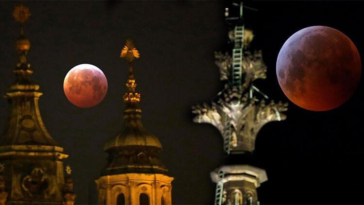 """Dünya merakla bekliyor… """"Süper Çiçek Kanlı Ay"""" tutulması yarın gece gerçekleşecek!"""