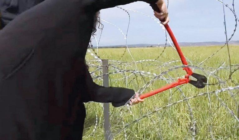 Güney Kıbrıs'ta sınıra dikenli tele protesto