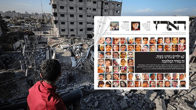 İsrail gazetesinden 'öldürülen Filistinli çocuklar' manşeti
