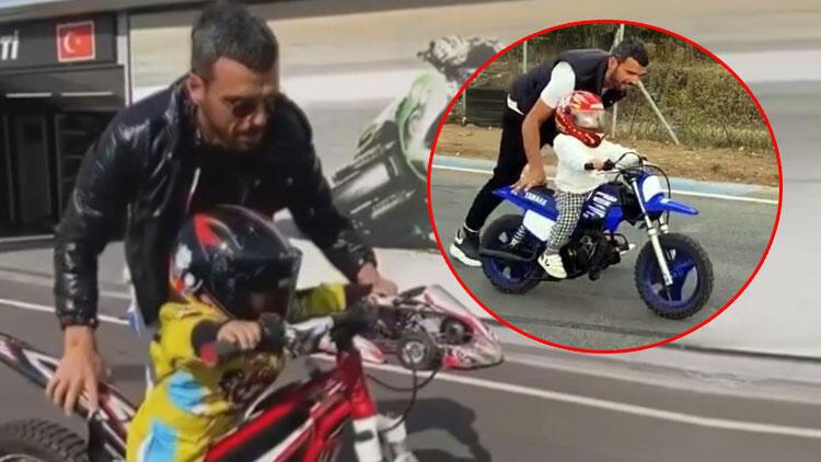 Kenan Sofuoğlu, oğlu Zayn'ın 2 yaşına girmeden motor kullanmasını eleştirenlere yanıt verdi!