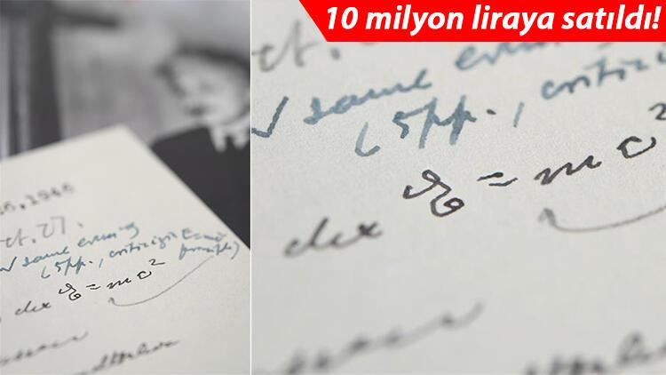 Kendi el yazısıyla… Dünyanın en ünlü denklemi 1.2 milyon dolara satıldı!