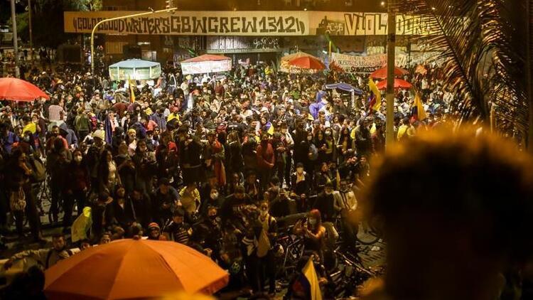 Kolombiya'da hükümete yönelik protestolar 22. gününde