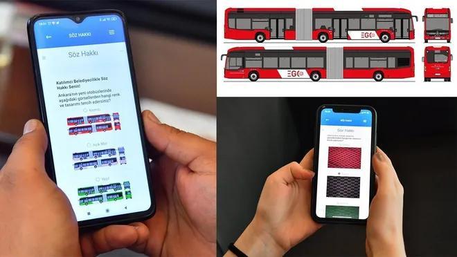 Ankara'da Yeni Otobüslerin Renk ve Tasarımları Oylamayla Belirlenecek